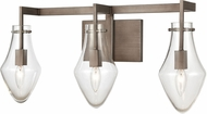 ELK 12293-3 Culmination Contemporary Weathered Zinc 3-Light Lighting For Bathroom