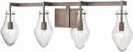 ELK 12294-4 Culmination Modern Weathered Zinc 4-Light Bath Lighting