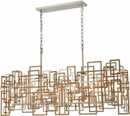 ELK 12306-6 Gridlock Modern Matte Gold / Aged Silver Kitchen Island Lighting