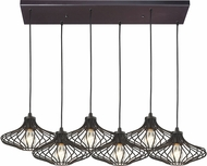 ELK 14240-6RC Yardley Contemporary Oil Rubbed Bronze Multi Hanging Light