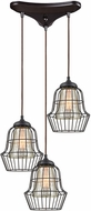 ELK 14246-3 Yardley Modern Oil Rubbed Bronze Multi Hanging Lamp