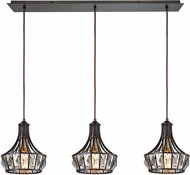 ELK 14247-3LP Yardley Oil Rubbed Bronze Multi Hanging Pendant Light