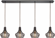 ELK 14247-4LP Yardley Oil Rubbed Bronze Multi Pendant Hanging Light