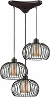 ELK 14293-3 Yardley Contemporary Oil Rubbed Bronze Multi Pendant Light
