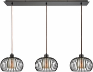 ELK 14293-3LP Yardley Contemporary Oil Rubbed Bronze Multi Pendant Lamp