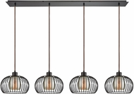 ELK 14293-4LP Yardley Modern Oil Rubbed Bronze Multi Hanging Lamp
