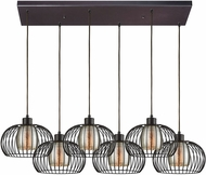 ELK 14293-6RC Yardley Contemporary Oil Rubbed Bronze Multi Hanging Light