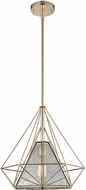 ELK 14294-1 Geoweb Modern Polished Gold Foyer Light Fixture