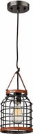 ELK 14306-1 Purcell Contemporary Weathered Iron Mini Hanging Light