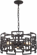 ELK 14333-3 Garriston Modern Clay Iron Drum Pendant Lighting