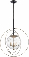 ELK 14386-3 Zonas Modern Polished Gold Oil Rubbed Bronze Hanging Light