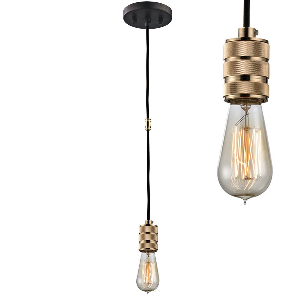 Elk 14391 1 Camley Contemporary Polished Gold Oil Rubbed Bronze Mini Pendant Light Fixture Loading Zoom