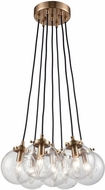 ELK 14465-7 Boudreaux Modern Satin Brass Multi Hanging Pendant Light