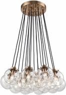 ELK 14466-17 Boudreaux Contemporary Satin Brass Multi Pendant Hanging Light