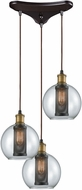ELK 14530-3 Bremington Modern Oil Rubbed Bronze,Tarnished Brass Multi Drop Ceiling Light Fixture