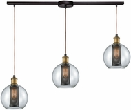 ELK 14530-3L Bremington Contemporary Oil Rubbed Bronze,Tarnished Brass Multi Drop Lighting Fixture