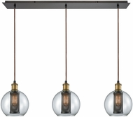 ELK 14530-3LP Bremington Modern Oil Rubbed Bronze,Tarnished Brass Multi Pendant Lighting