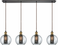 ELK 14530-4LP Bremington Contemporary Oil Rubbed Bronze,Tarnished Brass Multi Pendant Light