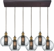 ELK 14530-6RC Bremington Modern Oil Rubbed Bronze,Tarnished Brass Multi Lighting Pendant