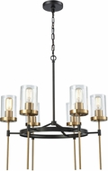 ELK 14553-6 North Haven Modern Oil Rubbed Bronze,Satin Brass 25  Lighting Chandelier