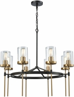 ELK 14554-8 North Haven Contemporary Oil Rubbed Bronze,Satin Brass 31  Chandelier Lamp