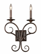 ELK 15040/2 Gloucester 2 Candle Antique Bronze 17 Inch Tall Lighting Sconce