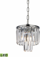ELK 15214-1-LED Palacial Polished Chrome LED Drop Ceiling Lighting