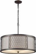 ELK 15243-6 Filmore Oil Rubbed Bronze 23  Drum Hanging Pendant Lighting