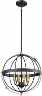 ELK 15285-4 Caldwell Contemporary Matte Black / Satin Brass 17  Drop Lighting