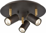 ELK 15414-3 Kempton Modern Matte Black / Satin Brass Halogen Home Ceiling Lighting