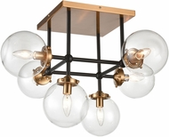 ELK 15436-6 Boudreaux Modern Matte Black / Antique Gold Overhead Light Fixture