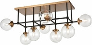 ELK 15437-8 Boudreaux Contemporary Matte Black / Antique Gold Overhead Lighting Fixture