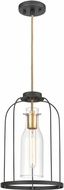 ELK 15444-1 Sheena Modern Silverdust Iron / Satin Brass Mini Drop Ceiling Lighting