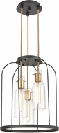 ELK 15445-3 Sheena Contemporary Silverdust Iron / Satin Brass 16  Entryway Light Fixture