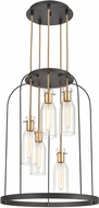 ELK 15446-5 Sheena Modern Silverdust Iron / Satin Brass 22  Foyer Lighting