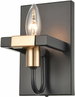 ELK 15451-1 Heathrow Modern Matte Black / Satin Brass Lamp Sconce