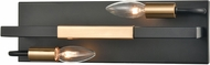 ELK 15452-2 Heathrow Modern Matte Black / Satin Brass 15  Bathroom Light