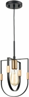 ELK 15455-1 Heathrow Modern Matte Black / Satin Brass Mini Pendant Lighting Fixture