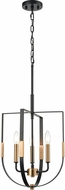 ELK 15456-3 Heathrow Modern Matte Black / Satin Brass 14  Hanging Pendant Lighting