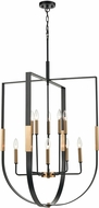ELK 15459-10 Heathrow Contemporary Matte Black / Satin Brass 28  Pendant Hanging Light