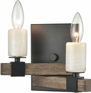 ELK 15461-2 Stone Manor Modern Aspen / Matte Black Wall Sconce Lighting