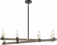 ELK 15463-8 Stone Manor Contemporary Aspen / Matte Black Kitchen Island Light