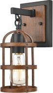 ELK 15482-1 Millville Contemporary Oil Rubbed Bronze / Dark Oak Wall Light Fixture