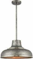ELK 15575-1 Kerin Modern Textured Silvery Gray / Polished Nickel Drop Lighting