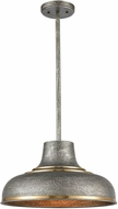 ELK 15585-1 Kerin Contemporary Textured Silvery Gray / Satin Brass Drop Ceiling Lighting