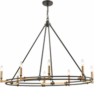 ELK 15607-8 Talia Oil Rubbed Bronze / Satin Brass Island Light Fixture