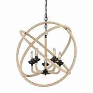 ELK 15902-5 Pearce Modern Matte Black Chandelier Lamp