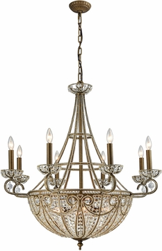 ELK 15968-8-6 Elizabethan Dark Bronze Chandelier Light