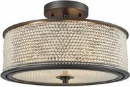ELK 15970-3 Glass Beads Oil Rubbed Bronze Ceiling Light Fixture