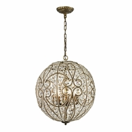 ELK 15975-8 Elizabethan Contemporary Dark Bronze Hanging Pendant Lighting